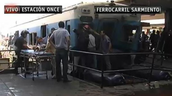 accidente tren Once