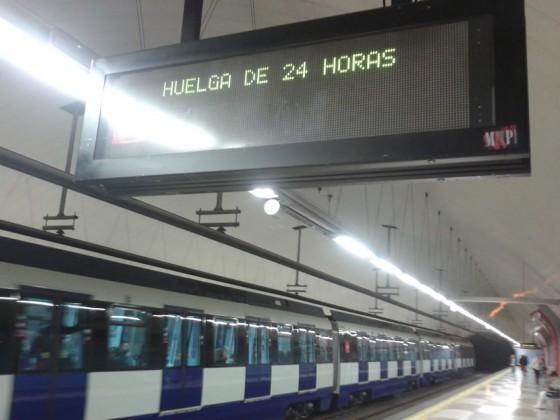 huelga Metro Madrid