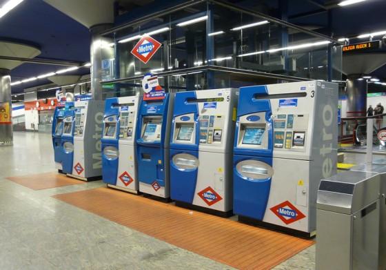 máquinas Metro Madrid