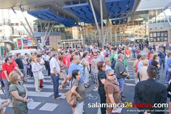 manifestación estación tren Salamanca