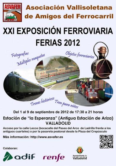 XXI Exposición ferroviaria Ferias 2012 organizada por la Asociación Vallisoletana de Amigos del Ferrocarril