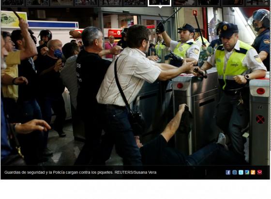 Seguridad Renfe pegando Atocha
