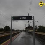 Cartel estación Araia