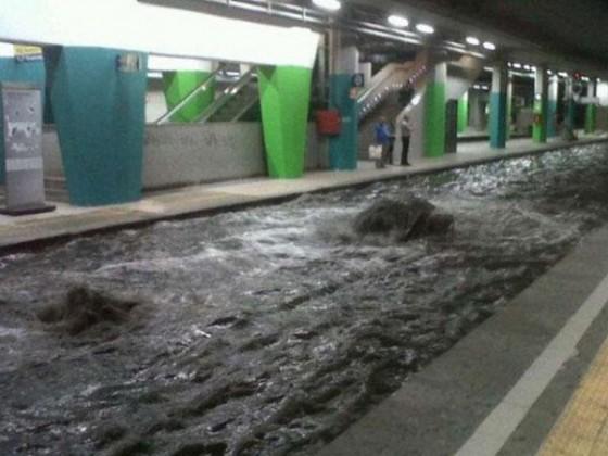 Inundación Metro Napoles