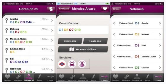 Nueva aplicación oficial para smartphones con los servicios de RENFE Cercanías