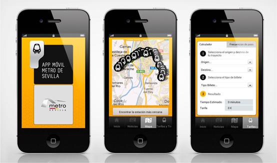aplicacion movil Metro Sevilla