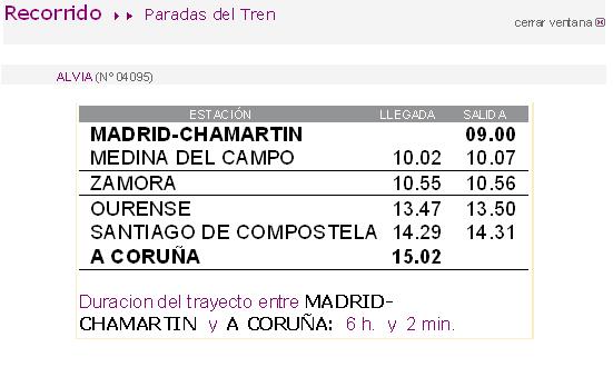 RENFE ofrece por primera vez un servicio ALVIA Madrid – Coruña por la mañana