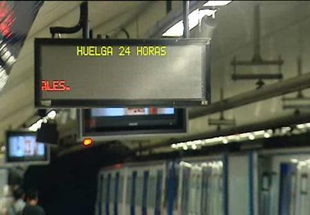 Los trabajadores de Metro Madrid aprueban huelgas de 24 horas los días 4 y 5 de enero
