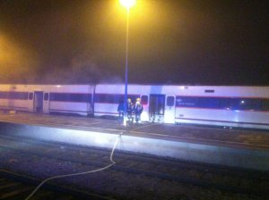 Incendio tren Cáceres