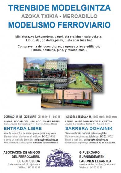 Mercadillo ferroviario organizado por la Asociación de Amigos del Ferrocarril de Guipúzcoa