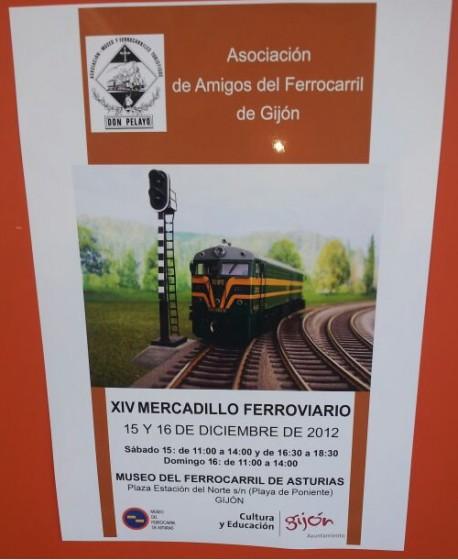 XIV Mercadillo Ferroviario en el Museo del Ferrocarril de Asturias, Gijón