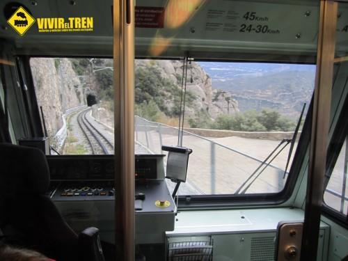 Cabina tren Cremallera Montserrat