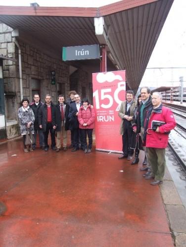 La exposición «150 años del ferrocarril en el País Vasco» llega a Irún