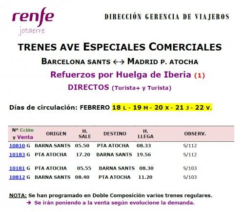 Renfe huelga Iberia