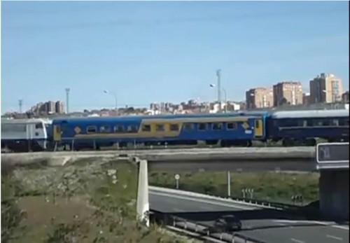 Presentación del coche de viajeros AA 9006 restaurado por la Asociación de Amigos del Ferrocarril de Madrid