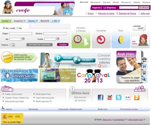 pagina web Renfe