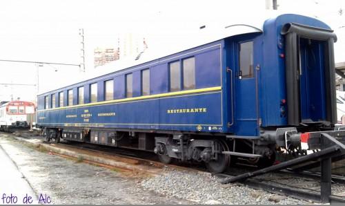 Un vagón de tren es la nueva sala Club AVE provisional en la estación de Alicante
