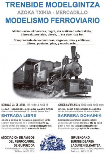 Mercadillo de Modelismo Ferroviario organizado por la Asociación de Amigos del Ferrocarril de Gipuzkoa