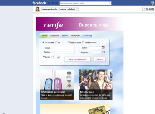 Compra tus billetes de tren desde Facebook