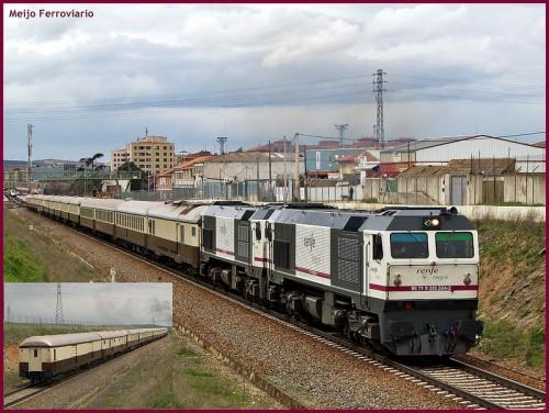 Pruebas del tren Al Ándalus circulando por Castilla y León, Navarrá y Aragón