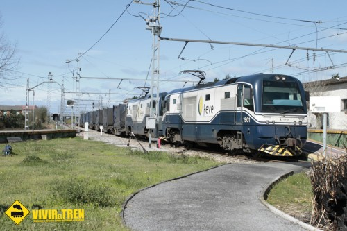 Tren mercancías El Berron