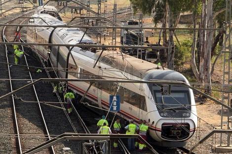 Descarrilla tren Sevilla