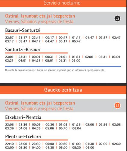 Metro Bilbao verano