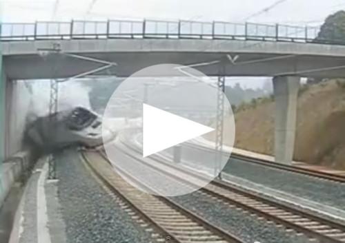 Vídeo del accidente Alvia Santiago