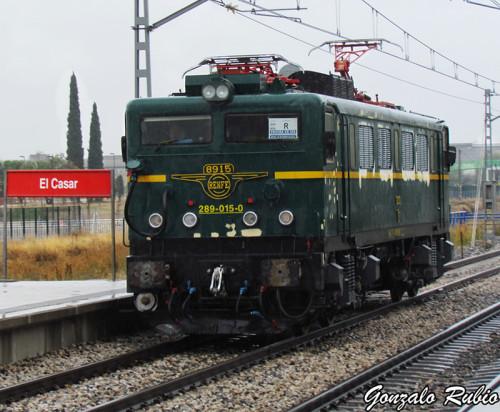 Máquina histórica 289-015 perteneciente al Museo del Ferrocarril de Delicias