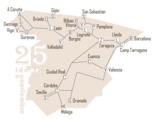 En noviembre, 100.000 plazas a 25 destinos en trenes AVE y Larga Distancia al 70% de descuento