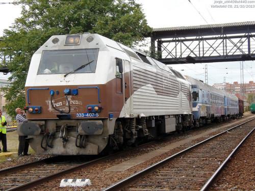 Traslado del TER 597-010 desde los talleres de Valladolid a Lleida
