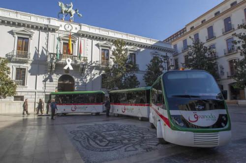 El tren turístico entre Granada y la Alhambra comenzará a funcionar el 6 de diciembre