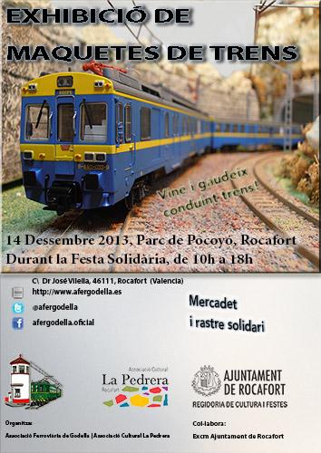 El 14 de diciembre exhibición de maquetas ferroviarias organizado por la Asociación Ferroviaria de Godella