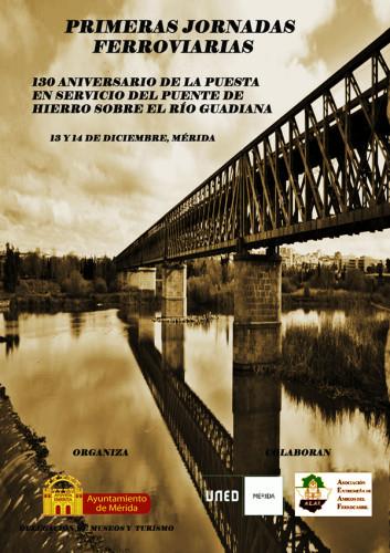 Los días 13 y 14 de diciembre primeras Jornadas Ferroviarias en Mérida