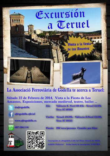 El 22 de febrero, la Asociación Ferroviaria de Godella organiza un viaje a Teruel