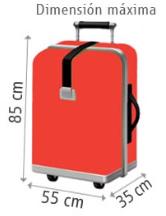 Dimensiones maleta tren