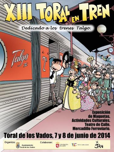 XIII edición «Toral al Tren» los días 7 y 8 de junio
