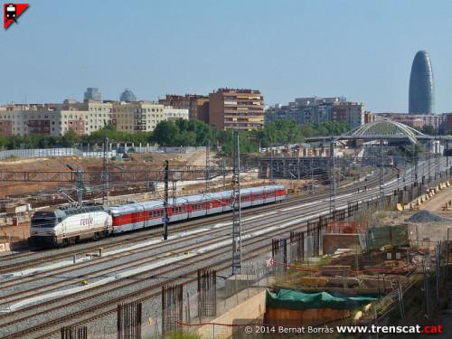 Traslado del Talgo III RD de Madrid a Barcelona Sant Andreu Comtal