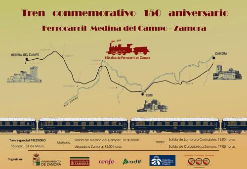 Tren especial con motivo del 150 aniversario de la llegada del tren a Zamora