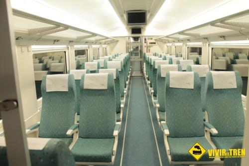 Todos los trenes entre Gijón y León circularán con los asientos situados en el sentido contrario a la marcha