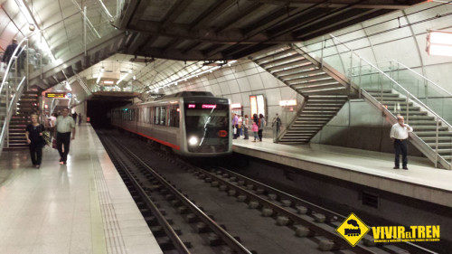 Los trenes de Metro Bilbao circularán sin parar los 3 días del fin de semana en verano