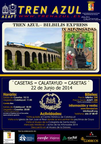 El 22 de junio, el Tren Azul circulará entre Zaragoza Casetas y Calatayud