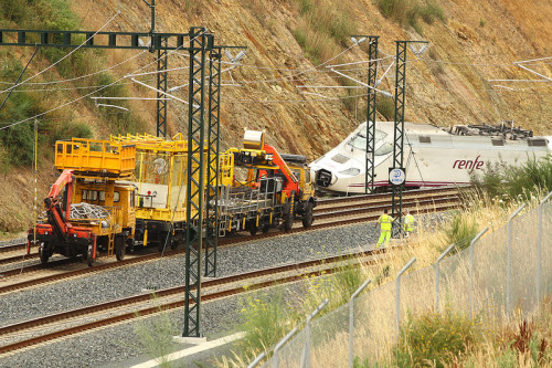 Primer aniversario del accidente ferroviario del ALVIA en Santiago de Compostela