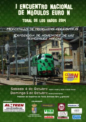 I Encuentro Nacional de Módulos Euro N Toral de los Vados de ferrocarriles en miniatura