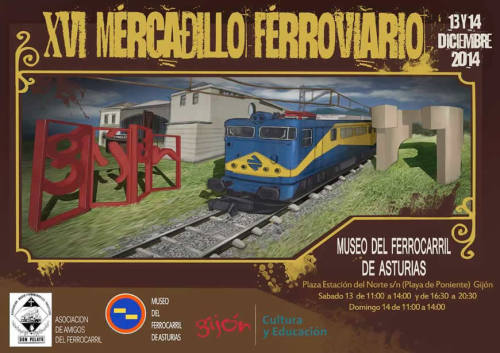 XVI Mercadillo ferroviario en el Museo del Ferrocarril de Asturias de Gijón
