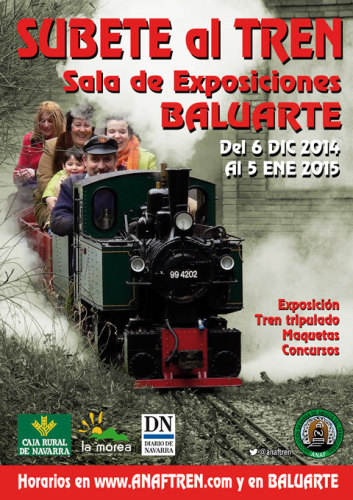 Súbete al tren, exposición navideña de la Asociación Navarra de Amigos del Ferrocarril