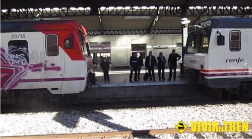 Vídeo maniobra de acople de 2 trenes Regionales 592 en la estación de Cuenca