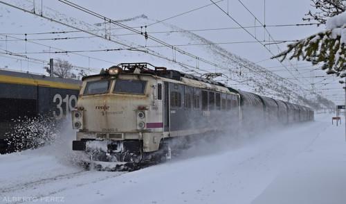 Tren nieve Pajares