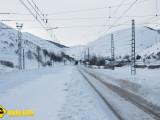 Vias tren nieve