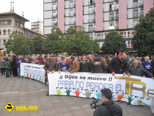 Gijón se mueve tren